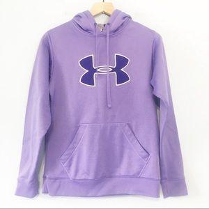 Under Armour lavender purple hooded sweatshirt M